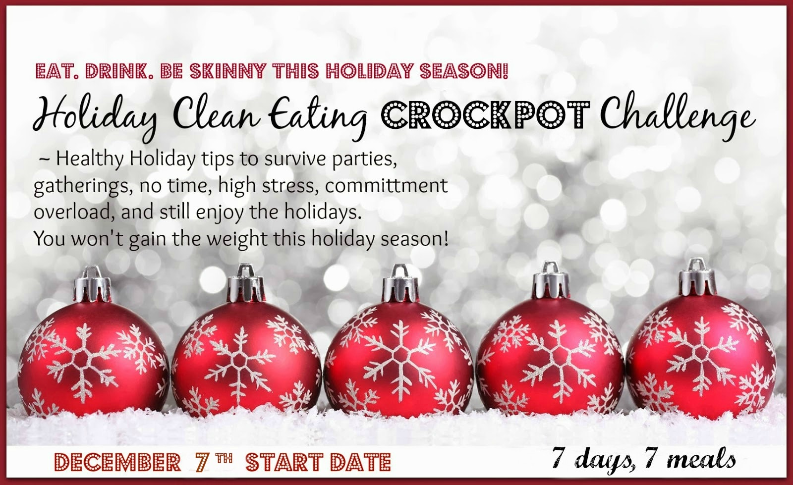 holiday crock pot clean eating group