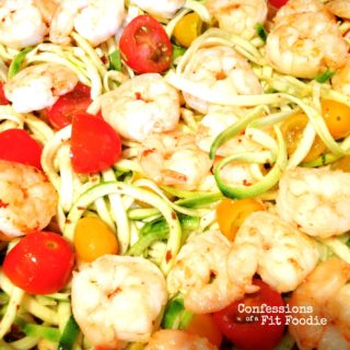 Shrimp with Zoodles {21 Day Fix}