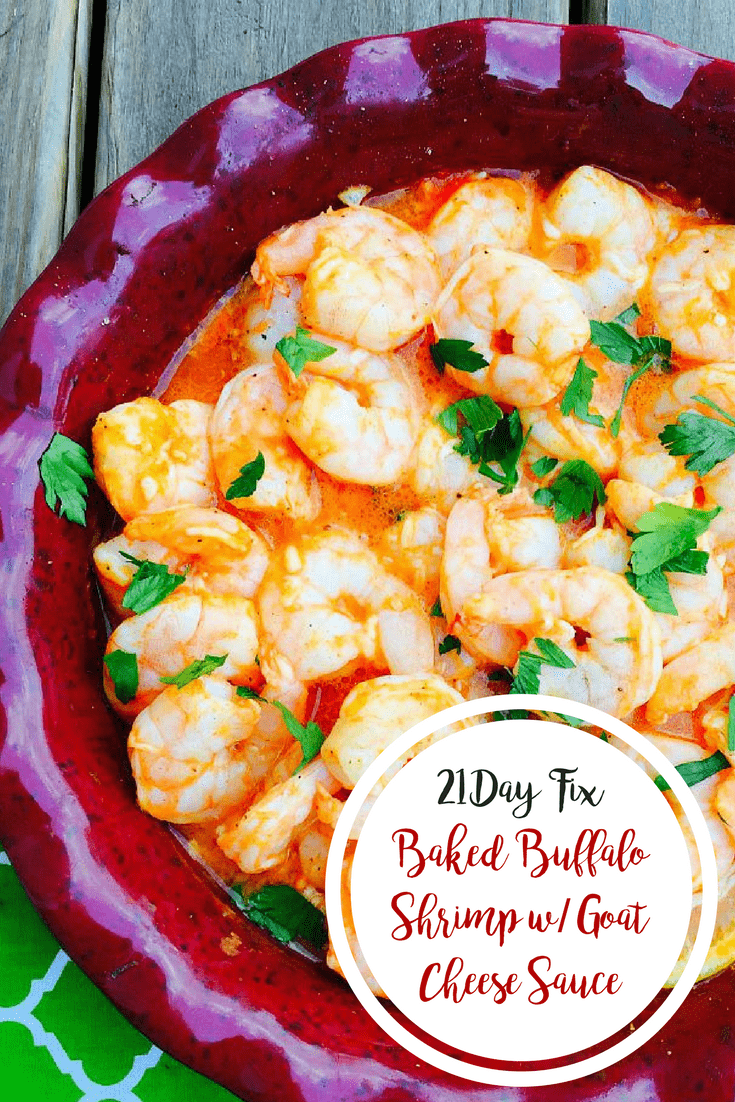 Baked Buffalo Shrimp w: Goat Cheese Sauce {21 Day Fix} | Confessions of a Fit Foodie