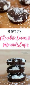 """21 Day Fix Chocolate Coconut """"Mounds"""" Cups   Confessions of a Fit Foodie"""