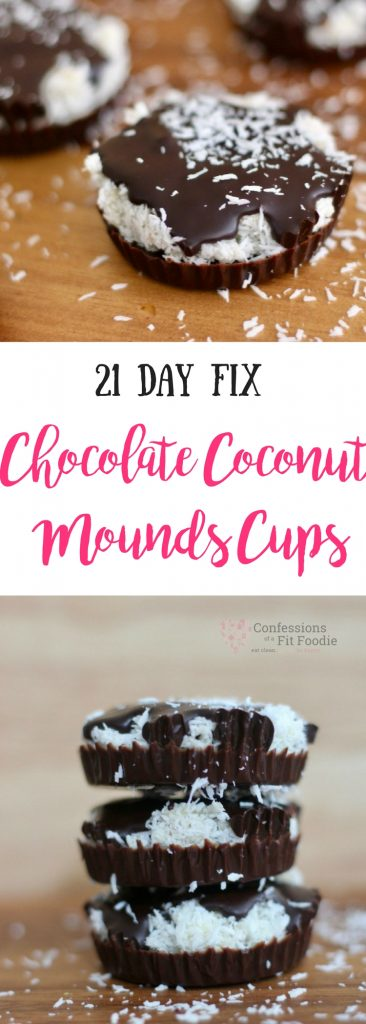 "21 Day Fix Chocolate Coconut ""Mounds"" Cups 