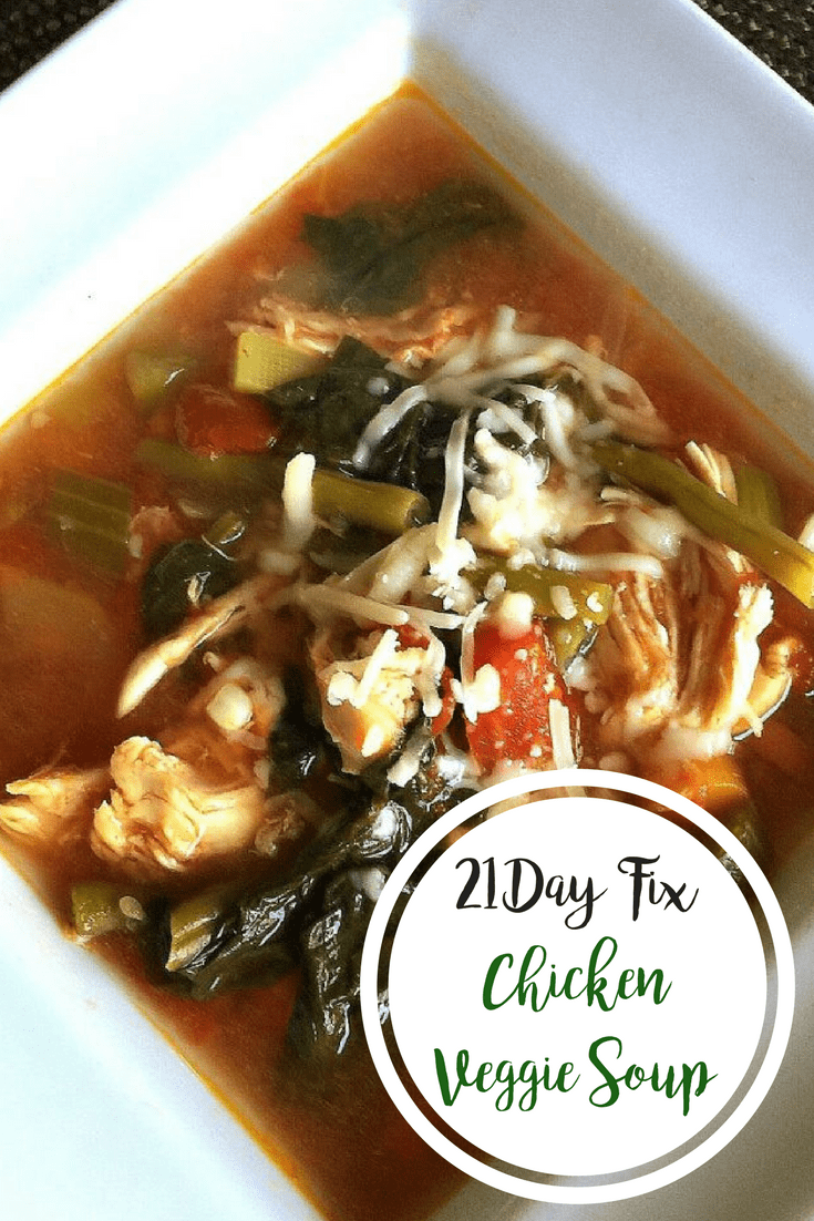 Easy 21 Day Fix Chicken Veggie Soup {Stovetop, Instant Pot, Slow Cooker} | Confessions of a Fit Foodie
