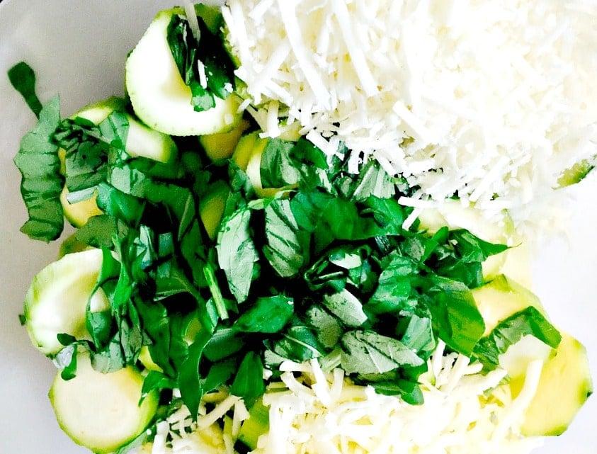 zucchini basil cheese