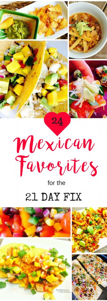 21 Day Fix Healthy Mexican Recipe Roundup