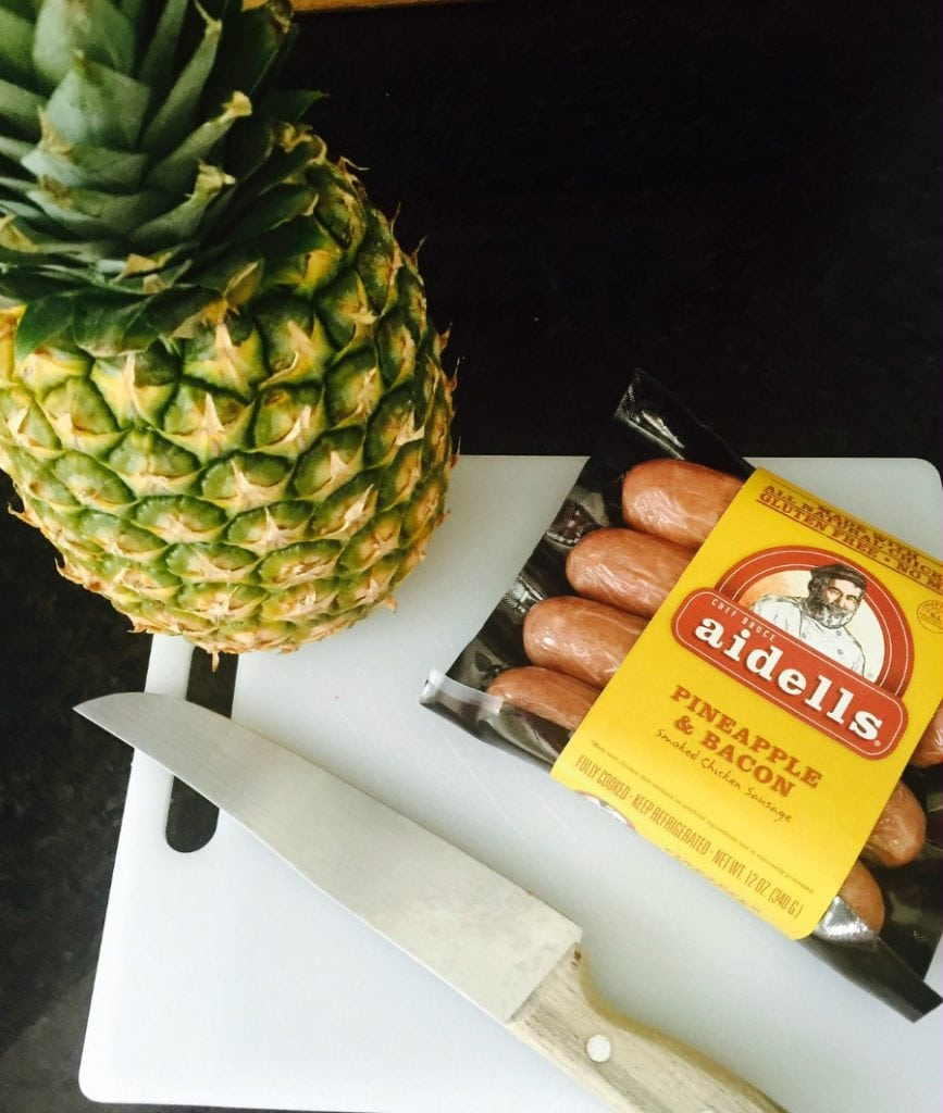 21 day fix pineapple sausage skewers