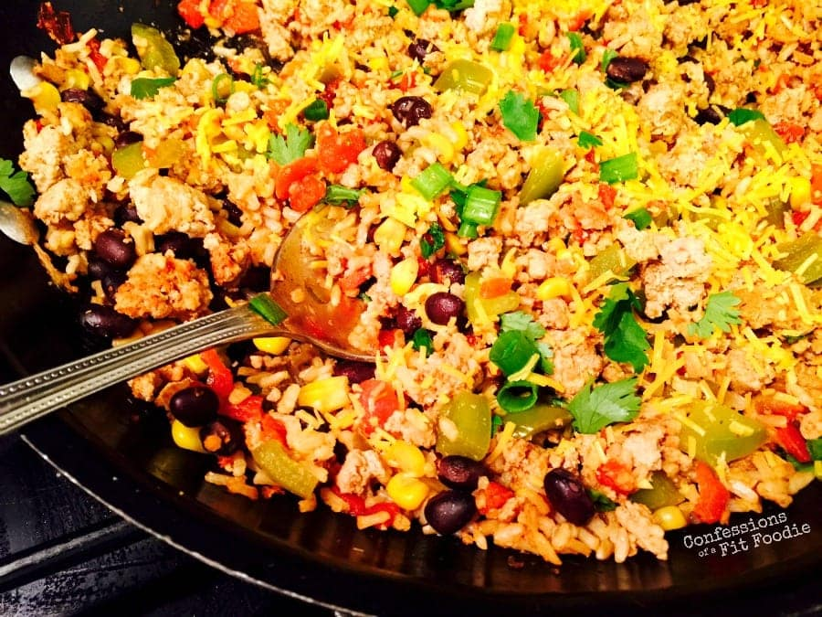 One Skillet Burrito Bowl