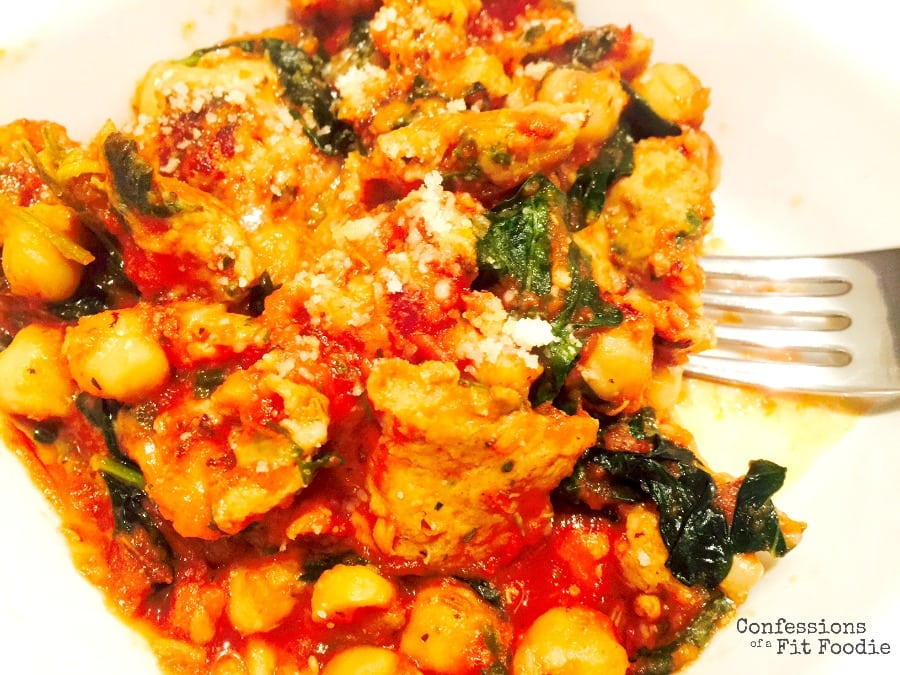 Sausage, Kale and Chick Pea Skillet