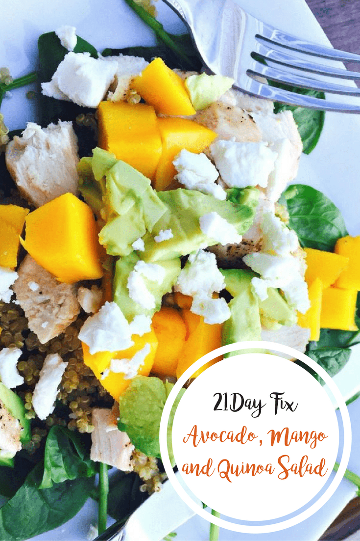 21 Day Fix Avocado, Mango and Quinoa Salad | Confessions of a Fit Foodie