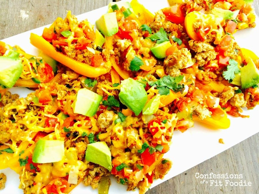 21 Day Fix Mini Bell Pepper Nachos