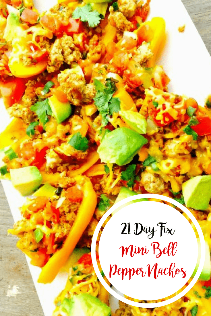 21 Day Fix Mini Bell Pepper Nachos | Confessions of a Fit Foodie