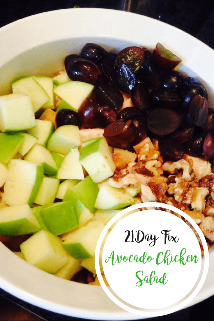 Avocado Chicken Salad {21 Day Fix} | Confessions of a Fit Foodie