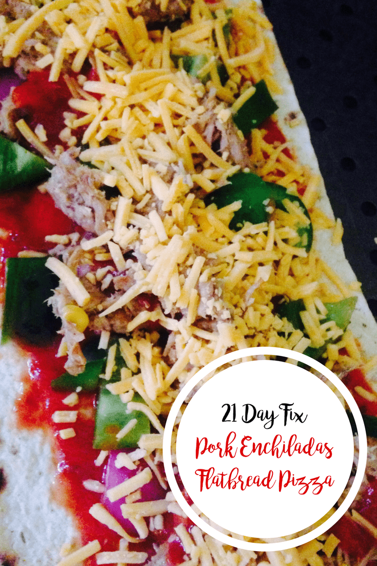 Pork Enchiladas Flatbread Pizza {21 Day Fix} | Confessions of a Fit Foodie