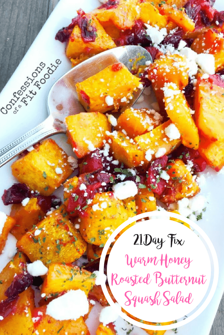 Warm Honey Roasted Butternut Squash Salad {21 Day Fix} | Confessions of a Fit Foodie