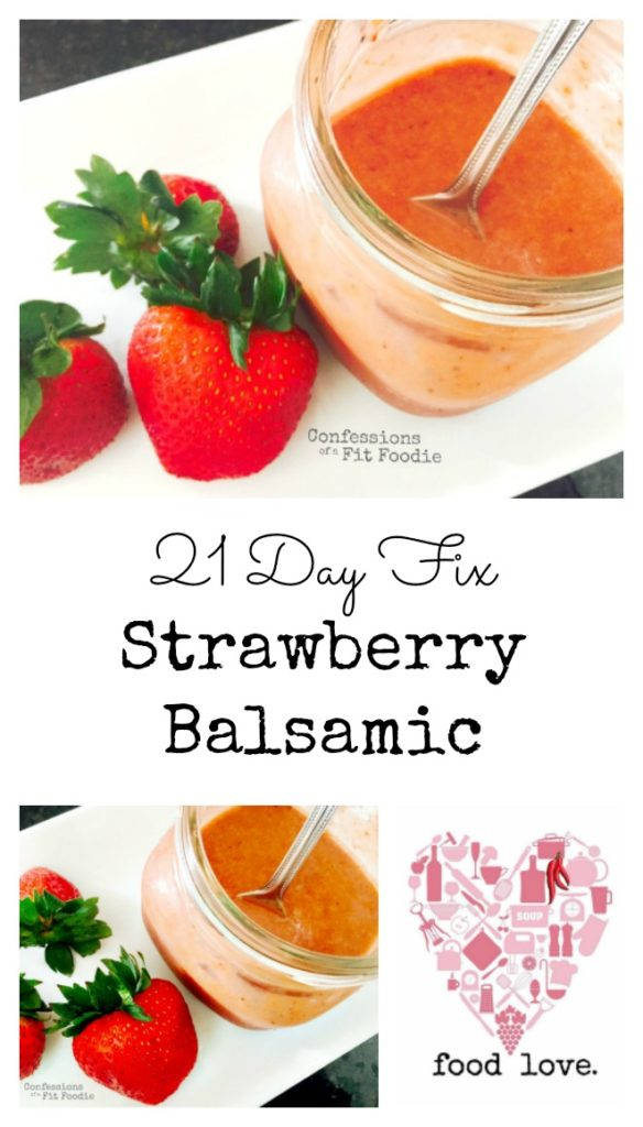 strawberry balsamic dressing collage