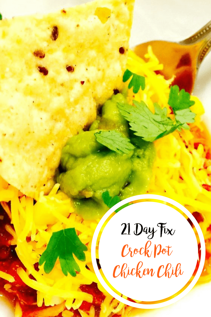 21 Day Fix Crock Pot Chicken Chili | Confessions of a Fit Foodie