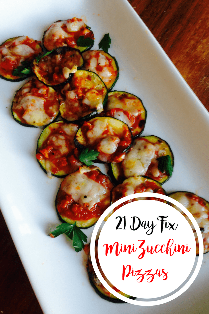 21 Day Fix Mini Zucchini Pizzas | Confessions of a Fit Foodie