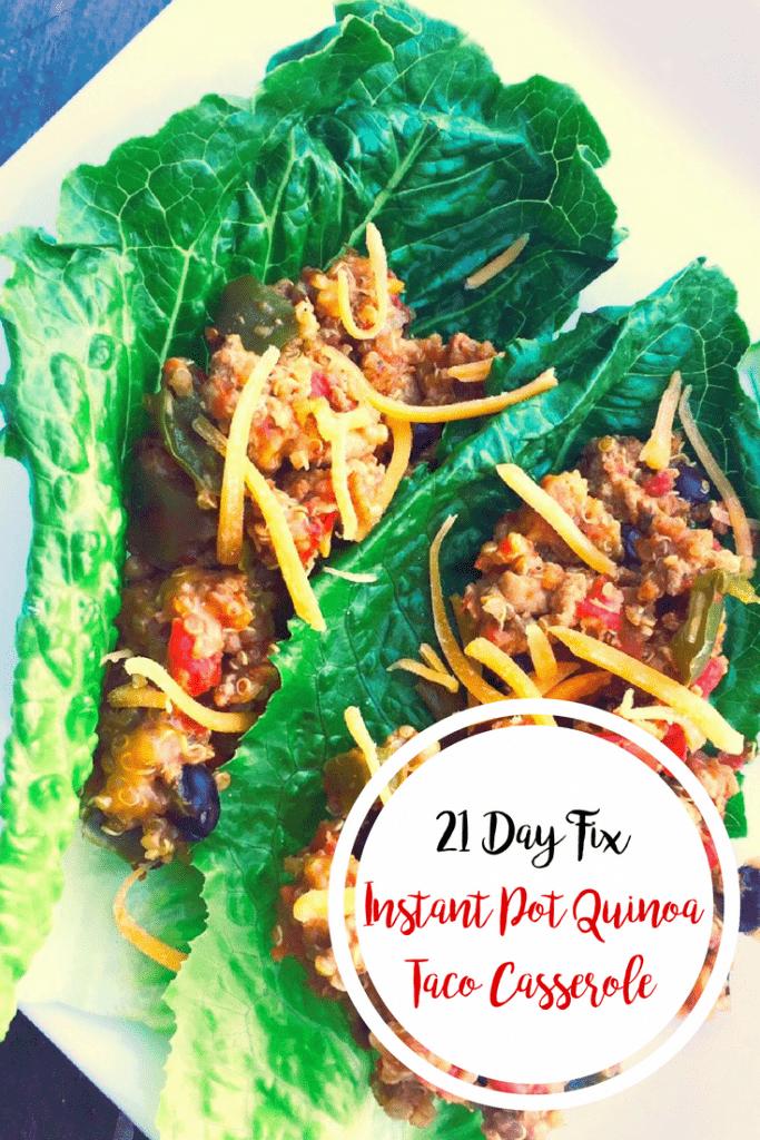 21 Day Fix Quinoa Taco Casserole (Crock Pot or Instant Pot) | Confessions of a Fit Foodie