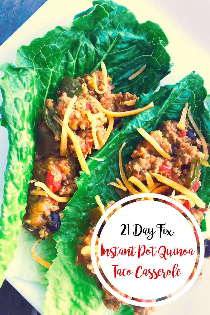21 Day Fix Quinoa Taco Casserole (Crock Pot or Instant Pot) | Confessions of a Fit Foodie