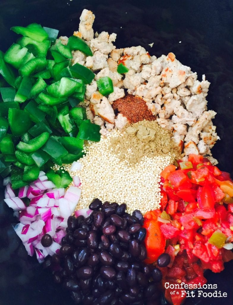 quinoa taco casserole in the crock pot