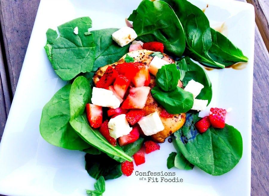 21 Day Fix Strawberry Caprese Salad