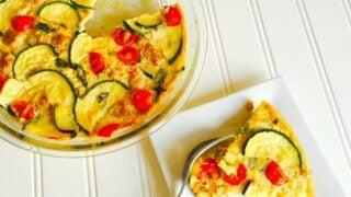 21 Day Fix Sausage and Zucchini Quiche {Dairy-free and Gluten-free}