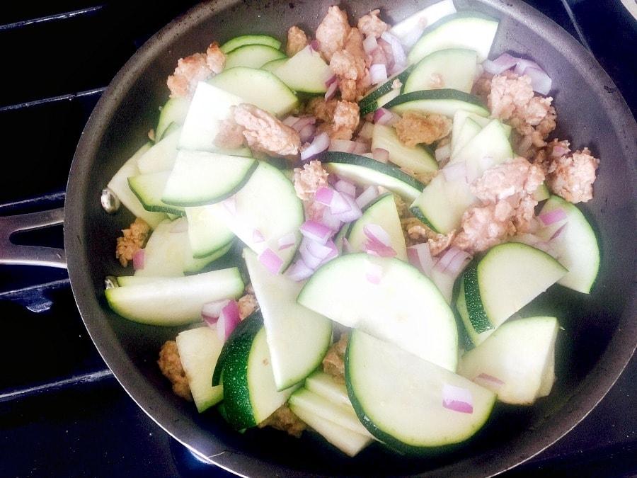 Zucchini Onion Sausage
