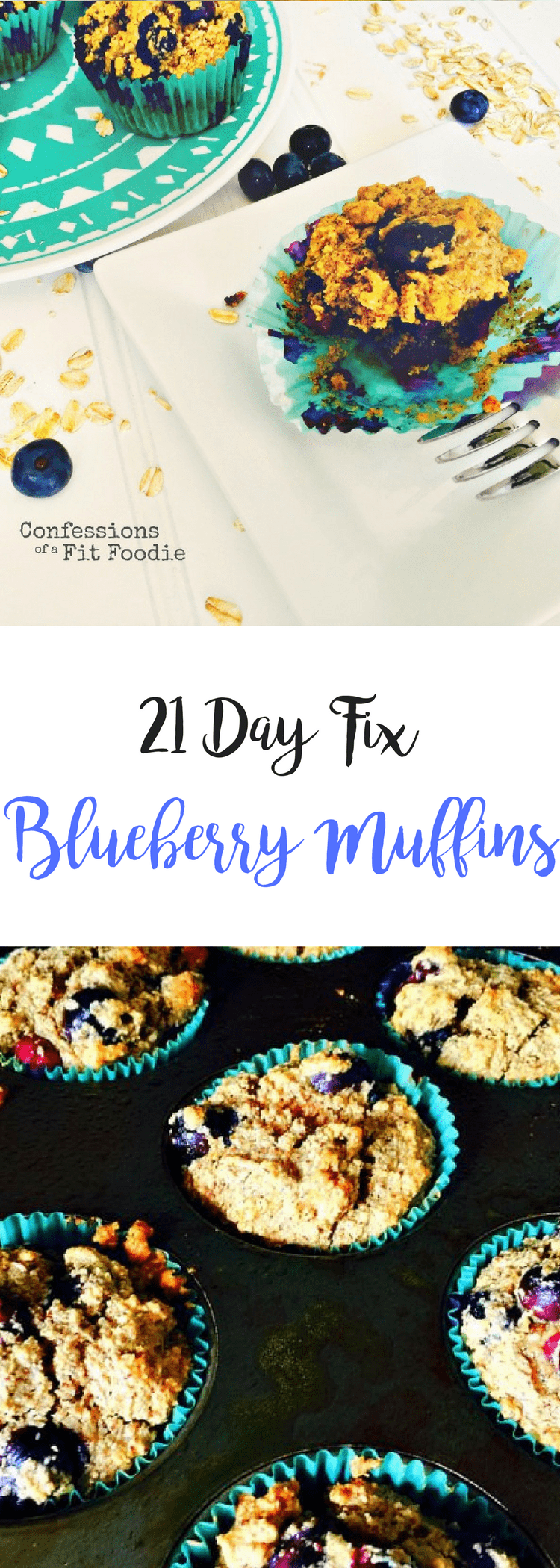 21 Day Fix Blueberry Muffins {Gluten Free, Dairy Free} | Confessions of a Fit Foodie