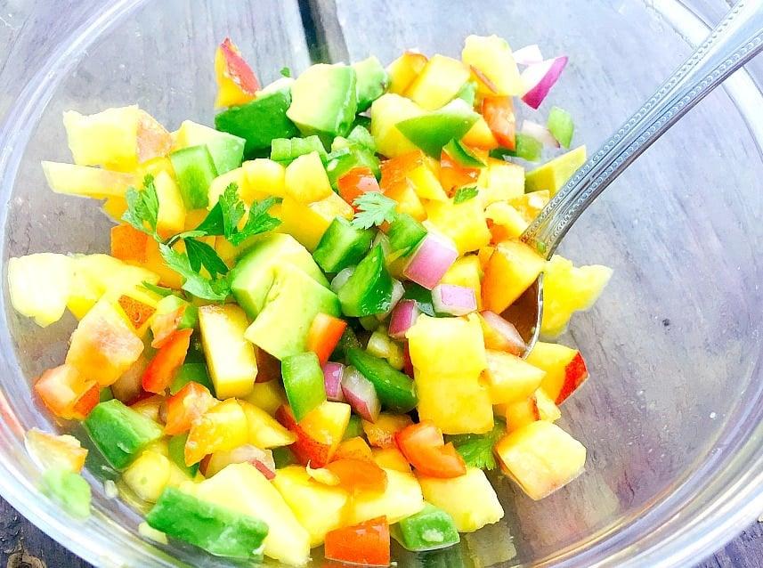 Peach and Pineapple Salsa
