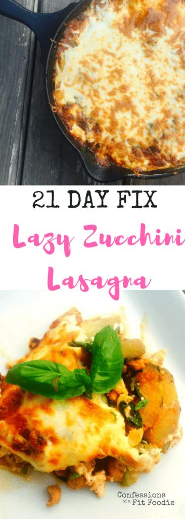 Lazy One Skillet Zucchini Lasagna