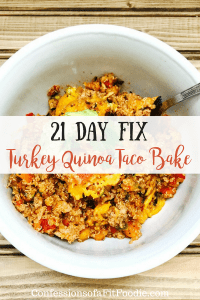 21 Day Fix Turkey Quinoa Taco Bake | Confessions of a Fit Foodie