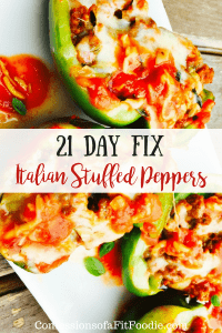 21 Day Fix Italian Stuffed Peppers | Confessions of a Fit Foodie