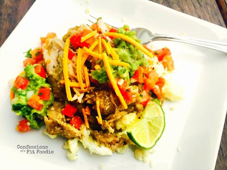 Salsa Verde Pork in the Slow Cooker