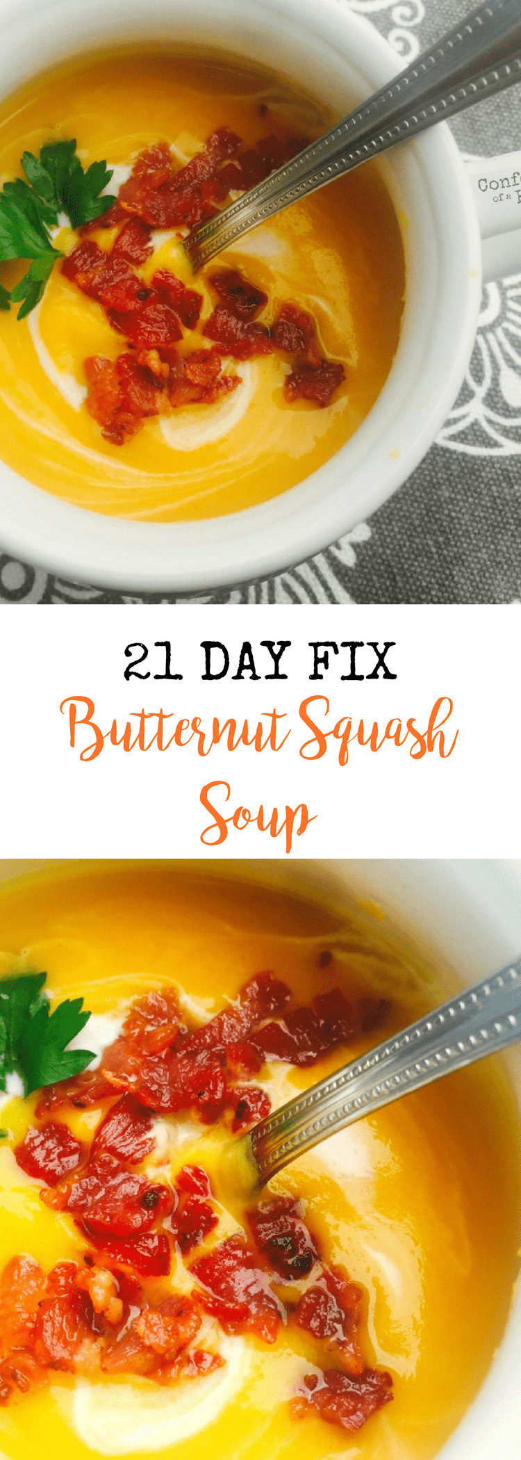 21 Day Fix Butternut Squash Soup {Dairy-free and Gluten-free} | Confessions of a Fit Foodie