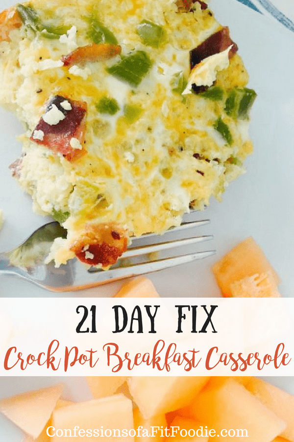 21 Day Fix Crock Pot Breakfast Casserole | Confessions of a Fit Foodie