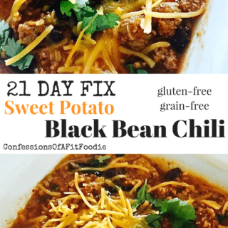 21 Day Fix Sweet Potato and Black Bean Chili