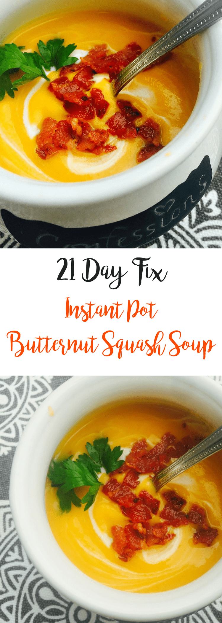21 Day Fix Instant Pot Butternut Squash Soup | Confessions of a Fit Foodie