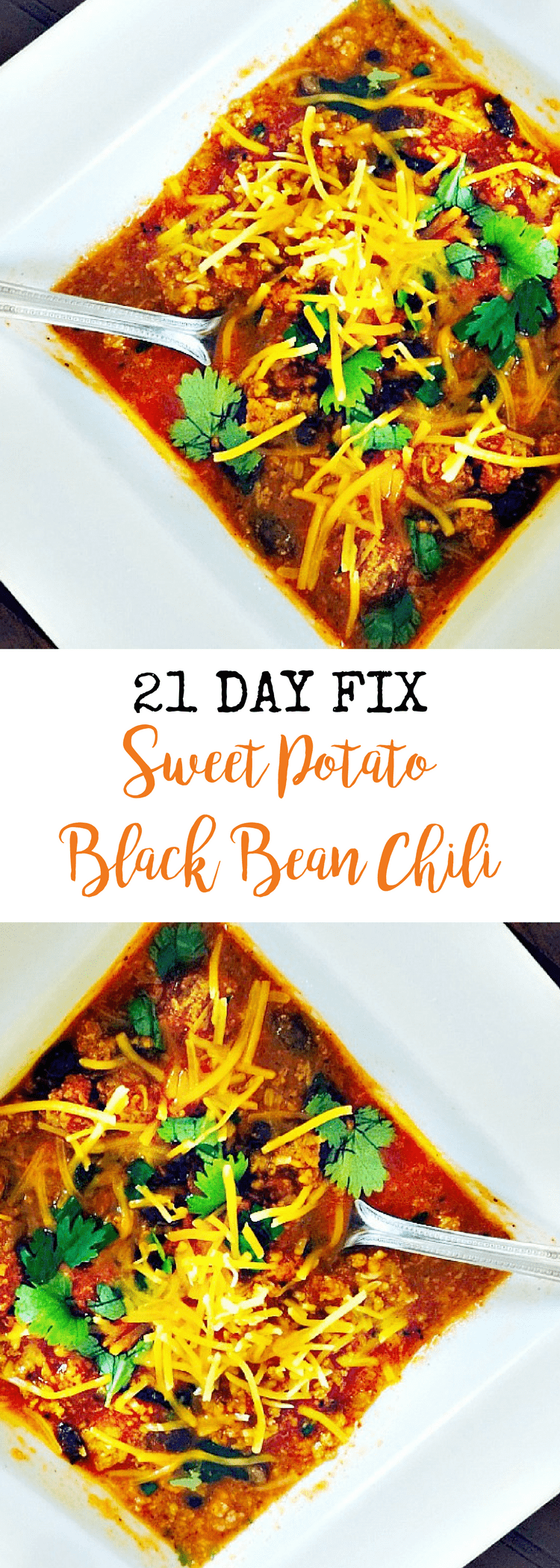 21 Day Fix Sweet Potato Black Bean Chili | Confessions of a Fit Foodie