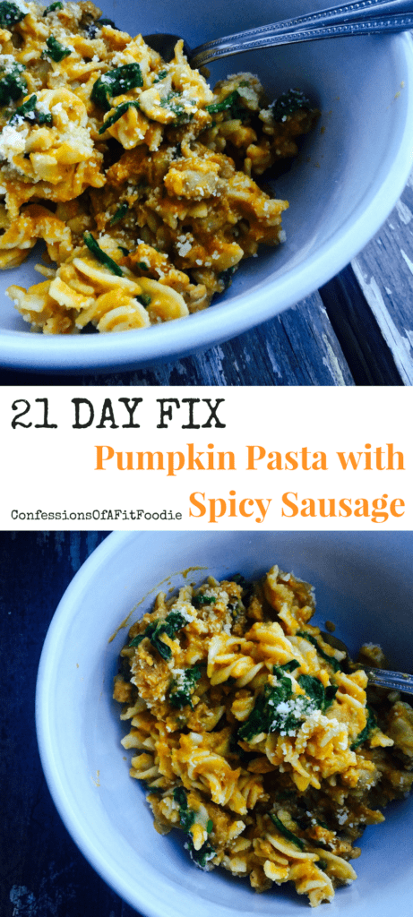 Pumpkin-Pasta-with-Spicy-Sausage