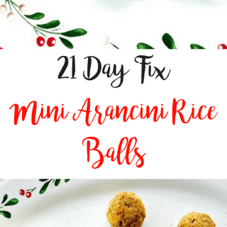 21 Day Fix Mini Arancini Rice Balls {Gluten-free}
