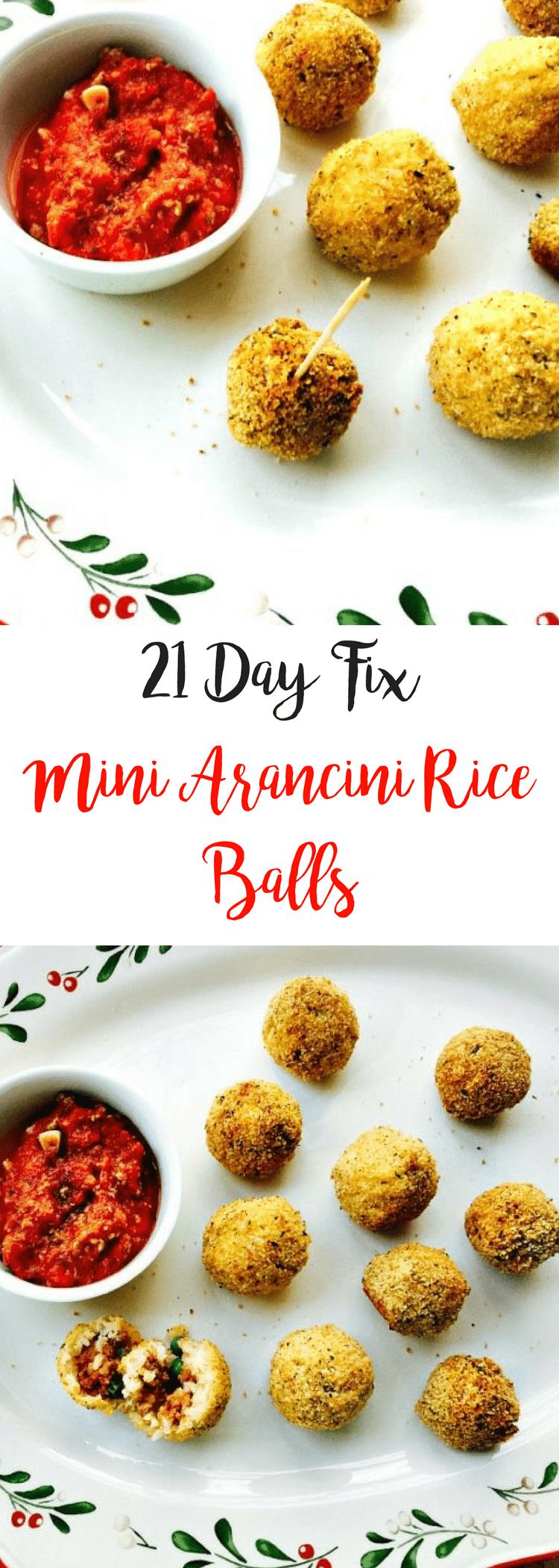 21 Day Fix Mini Arancini Rice Balls {Gluten-free} | Confessions of a Fit Foodie