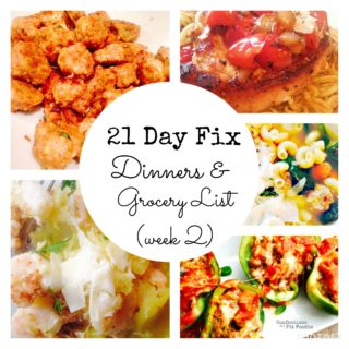 21 Day Fix Meal Plan & Grocery List {2} Make Ahead Dinners