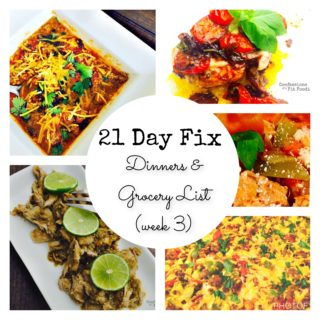 Dinner Plan & Grocery List (week 3)