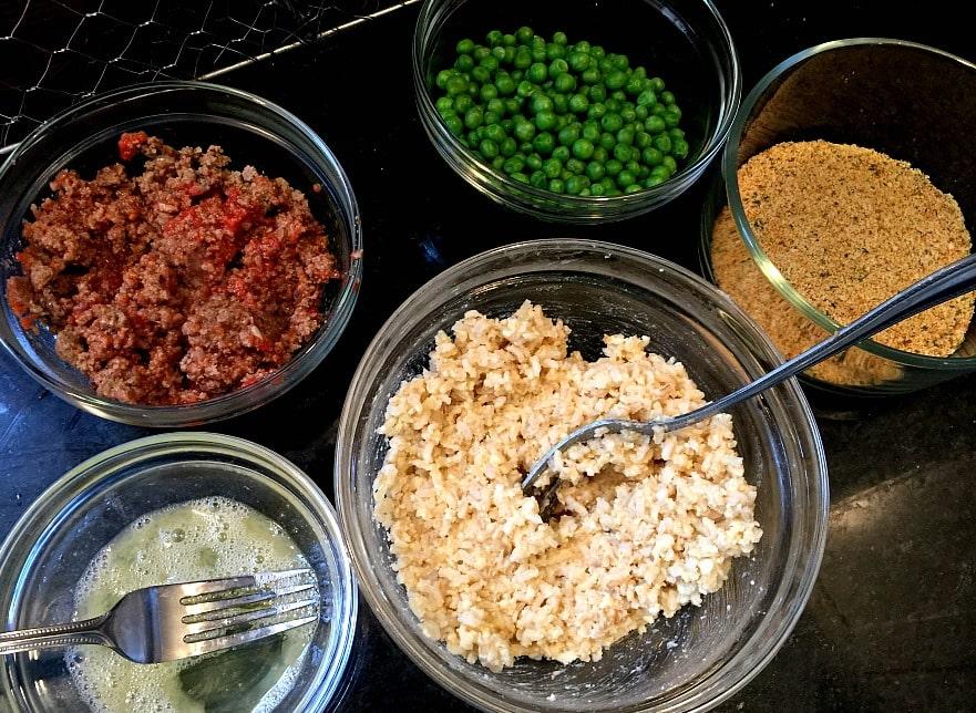 Ingredients for Mini Rice Balls