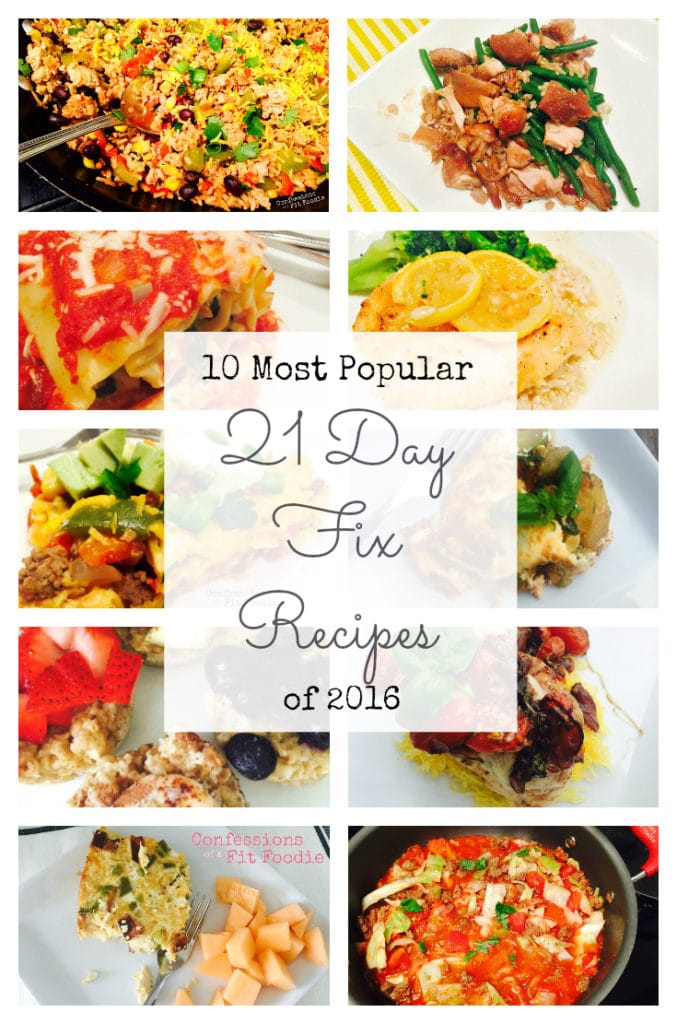 Top 21 Day Fix Recipes from 2016