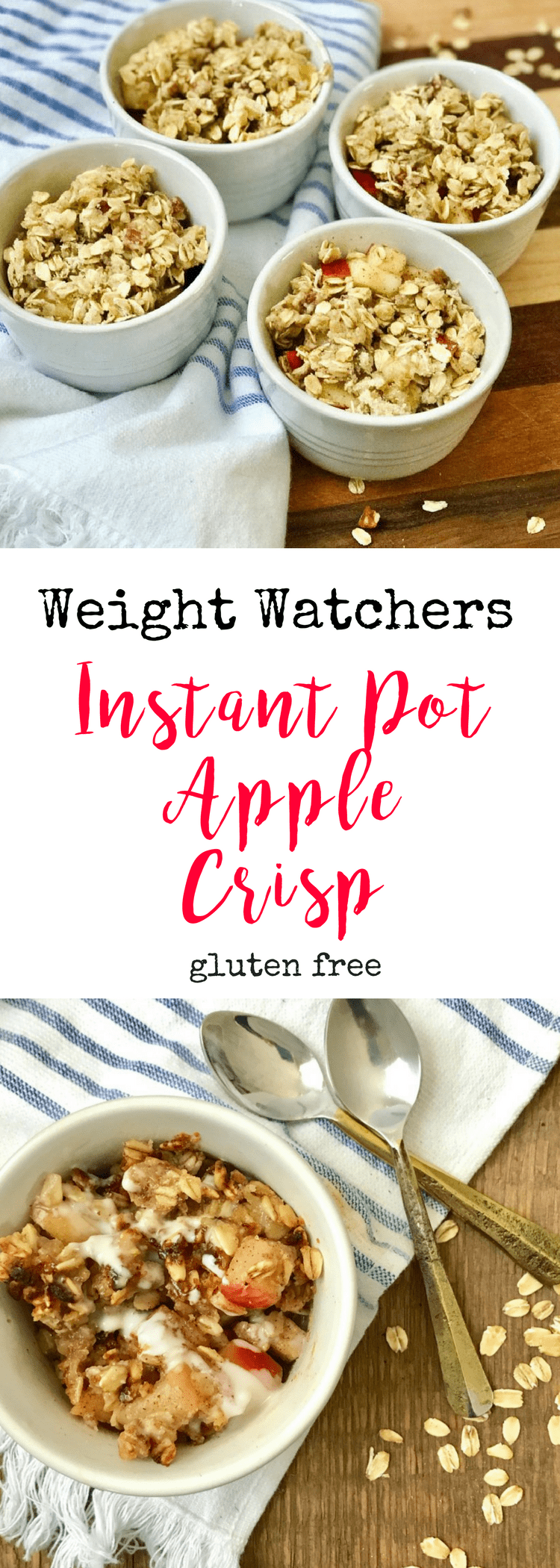 Weight Watchers Instant Pot Apple Crisp | Confessions of a Fit Foodie