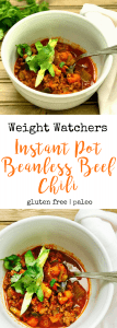 Weight Watchers Instant Pot Beanless Beef Chili | Confessions of a Fit Foodie