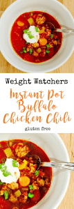 Weight Watchers Instant Pot Buffalo Chicken Chili | Confessions of a Fit Foodie