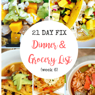 Dinner Plan & Grocery List (week 6)
