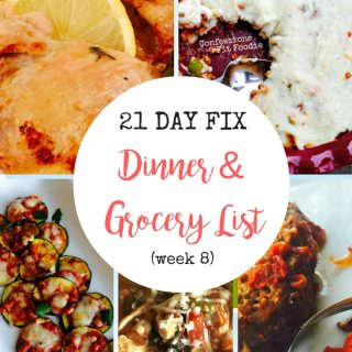 Dinner & Grocery List (week 8)