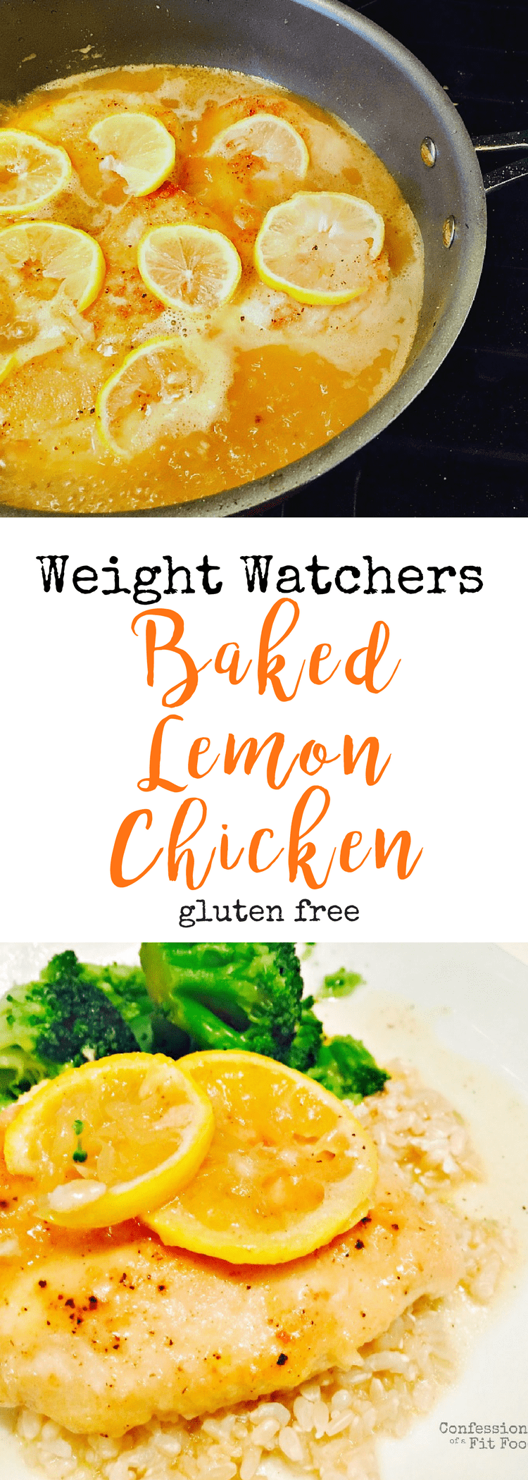 Weight Watchers Baked Lemon Chicken | Confessions of a Fit Foodie
